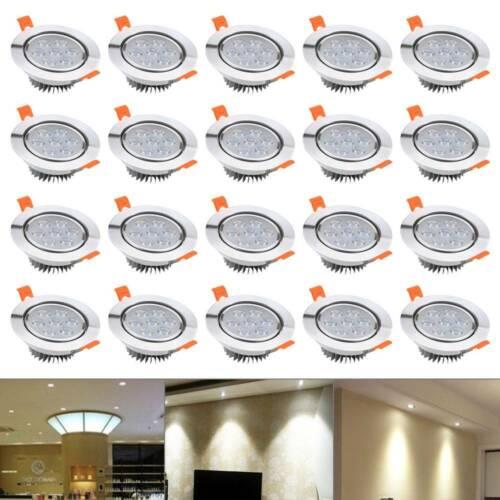 20X LED Spot Einbaustrahler Set Einbauleuchte Deckenleuchte Strahler IP44 7W