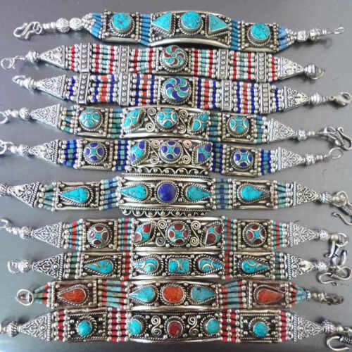 SUPER PROMOTION pour double onze-tibétain Bracelets Cuivre Incrustation Colorful Stone