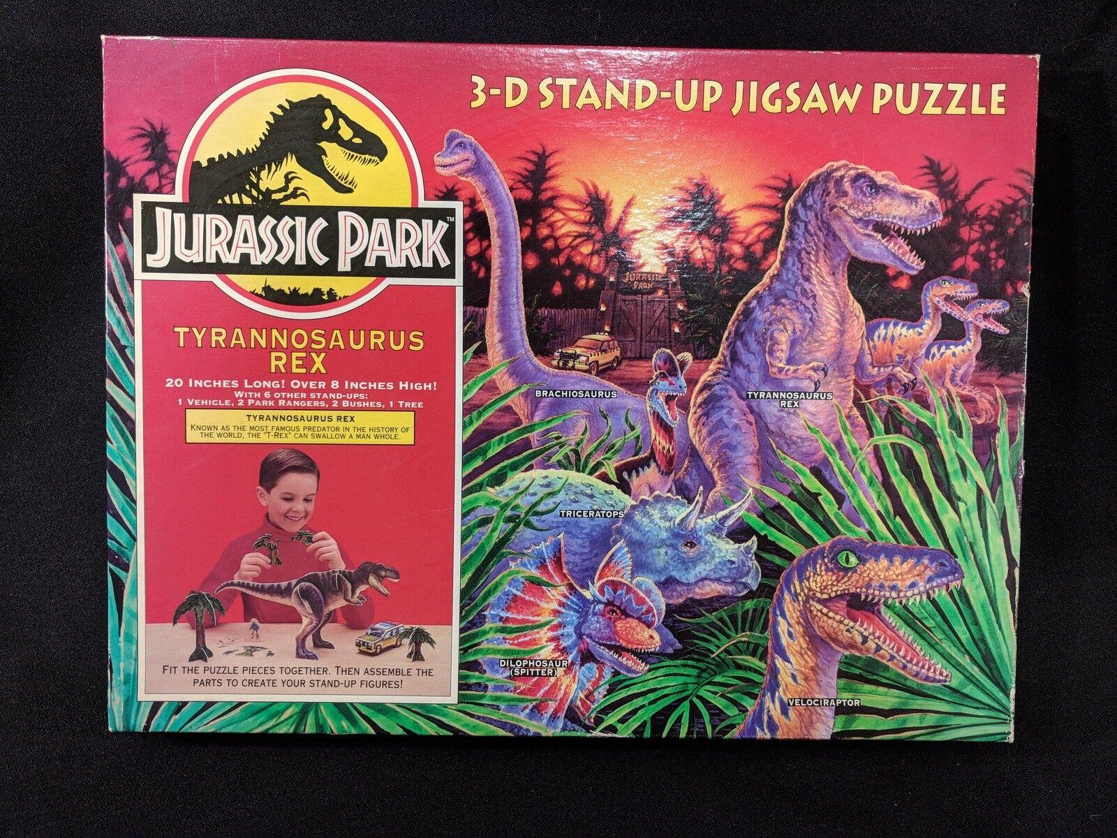 Vintage Jurassic Park Jigsaw Puzzle 3D StandUp T-REX TYRANNOSAURUS REX NIB