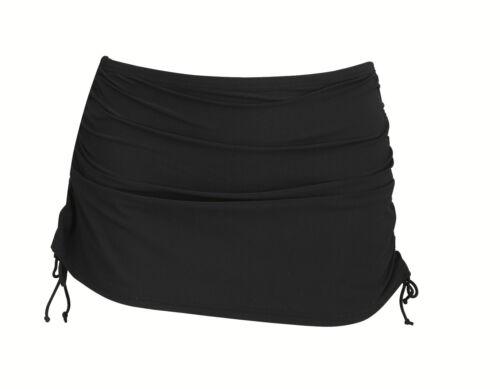 New Ladies//Womens Adjustable Length Black Swim Skirt Swimskirt Skirtini UK 14-26