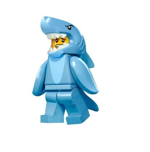 col15-13 NEW LEGO Shark Suit Guy Series 15 FROM SET 71011 COLLECTIBLES