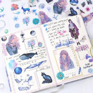 6Sheets-Pack-Kawaii-Stationery-Stickers-Cute-Whale-Stickers-Lovely-Paper-Stic-Y