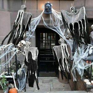 Skull-Halloween-Hanging-Ghost-Haunted-House-Grim-Reaper-Horror-Props-Decoration