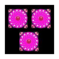 Apevia Af312l-spk 120mm Pink Led Ultra Silent Case Fan W/ 15 Le... Free Shipping