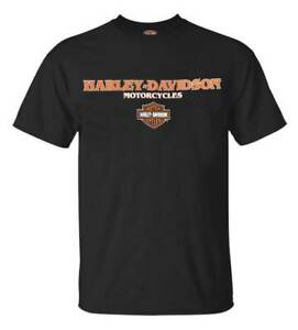 Harley-Davidson-Men-039-s-Harley-Crew-Crew-Neck-Short-Sleeve-T-Shirt-Black