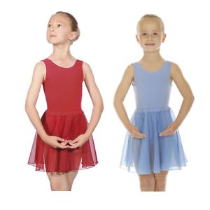 """GIRLS ISTD PLUM SKY BLUE CIRCULAR CHIFFON BALLET DANCE SKIRT 18/"""" 28/"""" WAIST"""