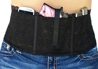 Ladies Womens Concealed Carry Belly Band Gun Holster Hidden Heat 3