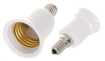 5 Pack E12 to E26 E27 Adapter Converts Chandelier Socket