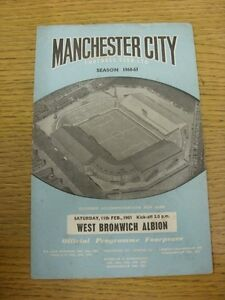 11-02-1961-Manchester-City-v-West-Bromwich-Albion-creased-Marked-team-Change