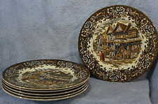 "Royal Tudor Ware 17 Century England 6 Dinner Plates 10"" Lot of 6 Plates"