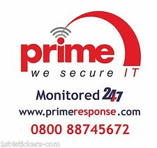 REPLACEMENT STICKER  FOR A BURGLAR ALARM BELL BOX EXCELLENT SECURITY DETERANT