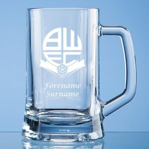 Radient Bolton Wanderers F.c - Personalised Small Plain Straight Sided Tankard (crest)