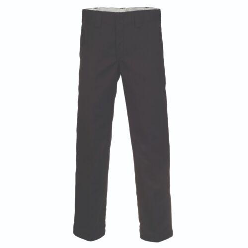 Dickies New Men/'s Slim Straight Work Pantalon pour femme Noir Bnwt