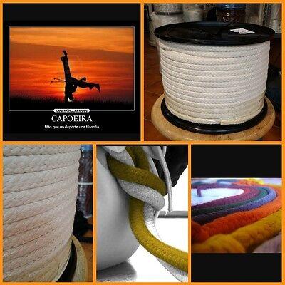 cuerda algodon 12mm capoeira corda soga bautizo por metro