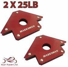 2 X 25LB MAGNET MAGNETIC SOLDERING ARROW WELDING 3 ANGLES CLAMP HOLD HOLDER