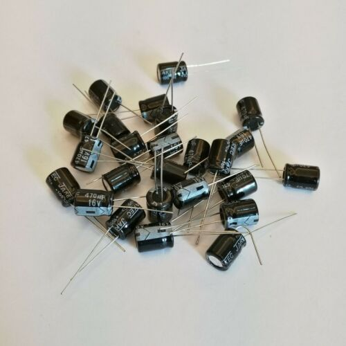 US Stock 50pcs Electrolytic Capacitors 470uF 470mfd 16V 105℃ Radial 8 x 11mm