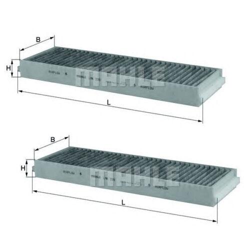 2x mahle Knecht carbón activado espacio interior filtro audi a6 avant allroad r8 2004-2011