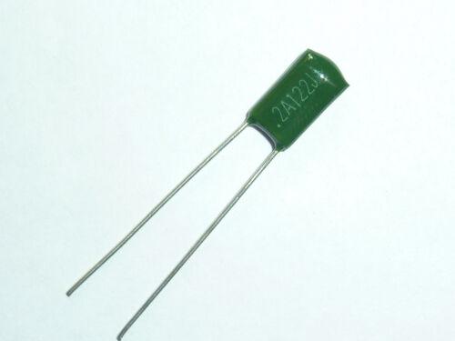 50pcs 2A122 0.0012uf 1.2nf 1200pf 100V Mylar Film Capacitor