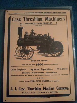Threshing Machinery Speaks for Itself! Vtg Look 1900 J.I Case New Metal Sign