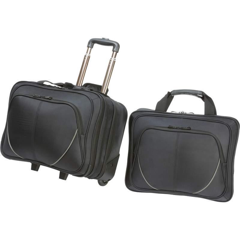 2pc Trolley Business Borsone Bagaglio Valigia con Computer Portatile Borsa