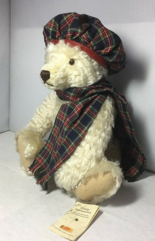 Lovely Genuine Steiff Inverno Orso HAMISH teddybear scozzese