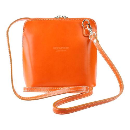 Ladies Genuine Italian Leather mini Vera Pelle cross body shoulder bag
