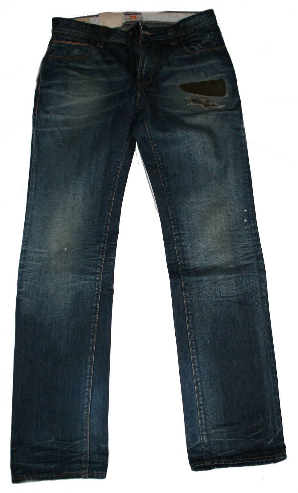 HUGO BOSS 50228390 50228390 50228390 MEDIO DENIM BLU ARANCIONE 63 Code Slim Fit jeans b0b3bb