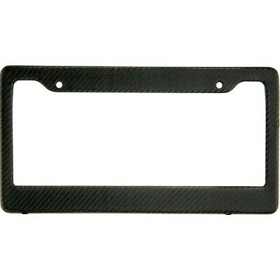 Real 100% Carbon Fiber License Plate Frame Tag Cover Matte Finish With Screw Cap