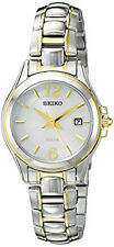 Seiko Women's Core Analog Solar Powered Two Tone Stainless Steel Watch SUT250