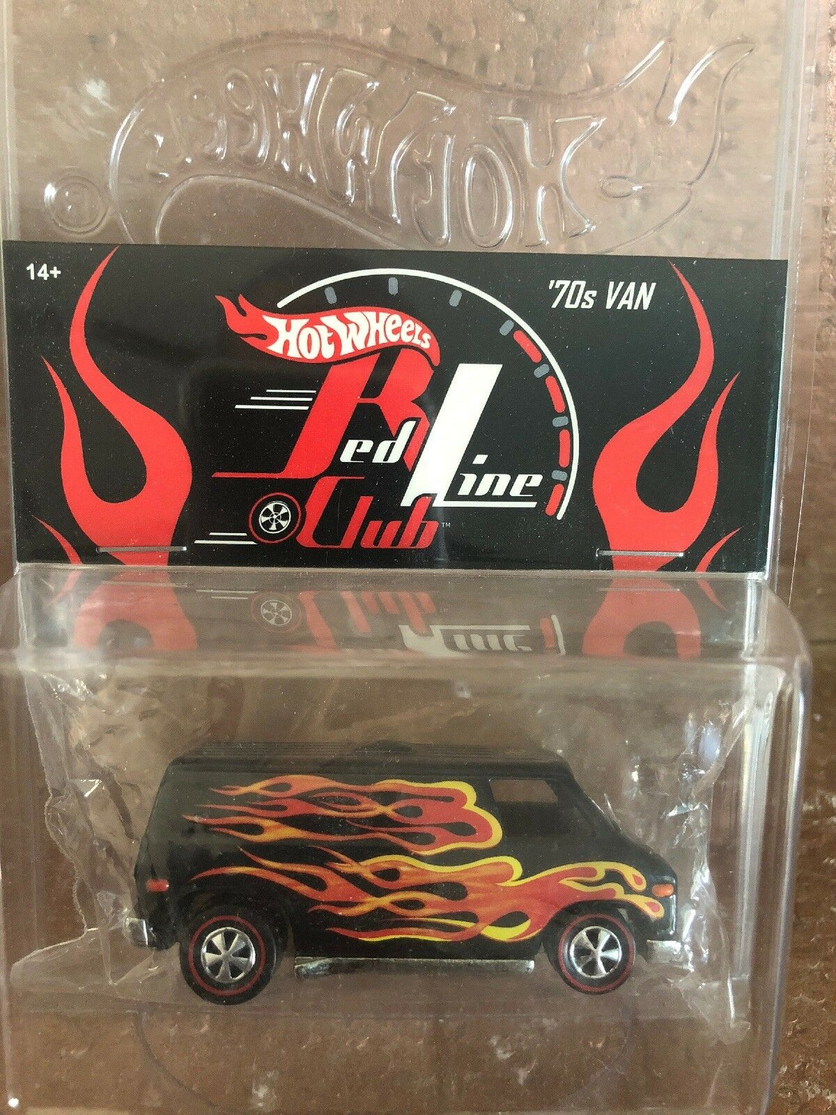 2003 Hot Wheels Convention Rlc Ligne Rouge Club non Fête Rose Voiture 70'S Van