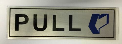 Modern PULL Door Sign For House Office Public Places Toilet PULL Door Plaque