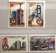 KONGO BRAZZAVILLE 1969 194-97 U 193-96 Cement Works Industrie Industry Factory