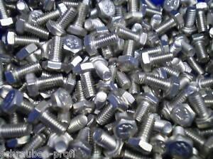 10-Esagonali-viti-DIN-933-M7-x-45-mm-8-8-10-DADI-10-anello-a-molla-galzn