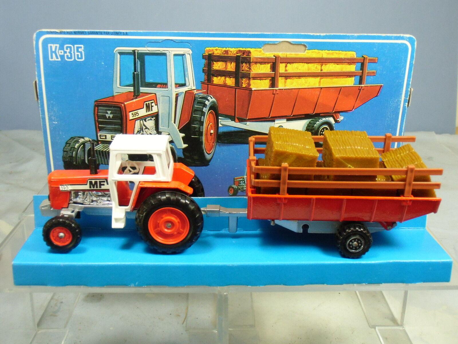 MATCHBOX SUPERKINGS modèle No.K-35 Massey Ferguson Tracteur VN En parfait état, dans sa boîte