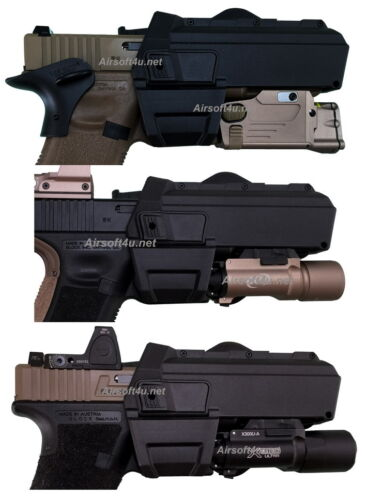 Blackcat Tactical Molle Holster in for Marui or WE-G17,18,34 Tan