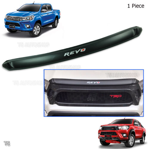 2015 2017 Front Bonnet Hood Trim Matte Black REVO Fits Toyota Hilux Revo Pickup