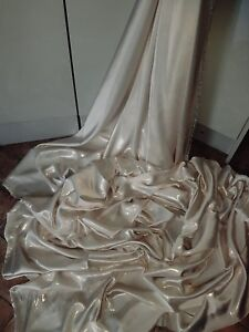 "1M bridal ivory DRESS  SATIN FABRIC..58/""  WIDE"