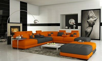 Genuine European Customized Leather Sofa Couch Chair Design