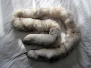 Silver Fox Fur Tippet Estola Reconstitution Regency Napoléon Jane Austen-afficher Le Titre D'origine Chaud Et Coupe-Vent