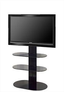 Mobili Porta Tv Lc.Porta Televisore L C Totem Nero Ebay