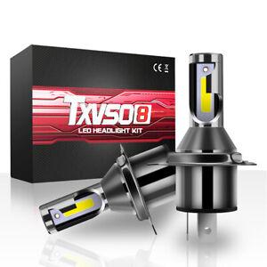 2-pezzi-H4-COB-CREE-Lampadine-a-LED-Xenon-Hi-Lo-110W-26000LM-Lampada-faro-IT