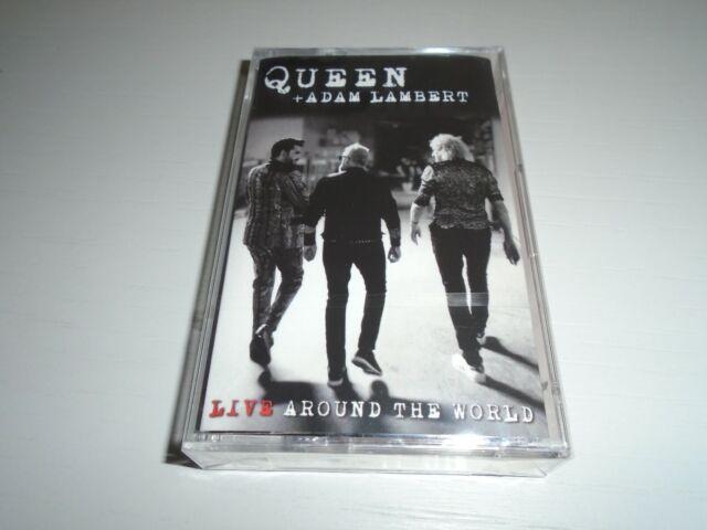 QUEEN + ADAM LAMBERT LIVE AROUND THE WORLD LTD EDTN CASSETTE TAPE ALBUM NEW AND
