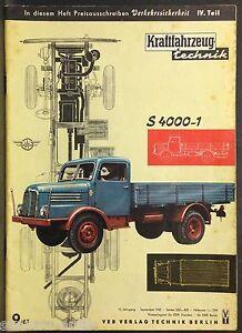 Bücher & Zeitschriften Ddr,kft,kraftfahrzeug Technik H.9/61,s 4000 1,fhf Tiefladeanhänger F.12/20/60 T Auto & Motorrad: Teile