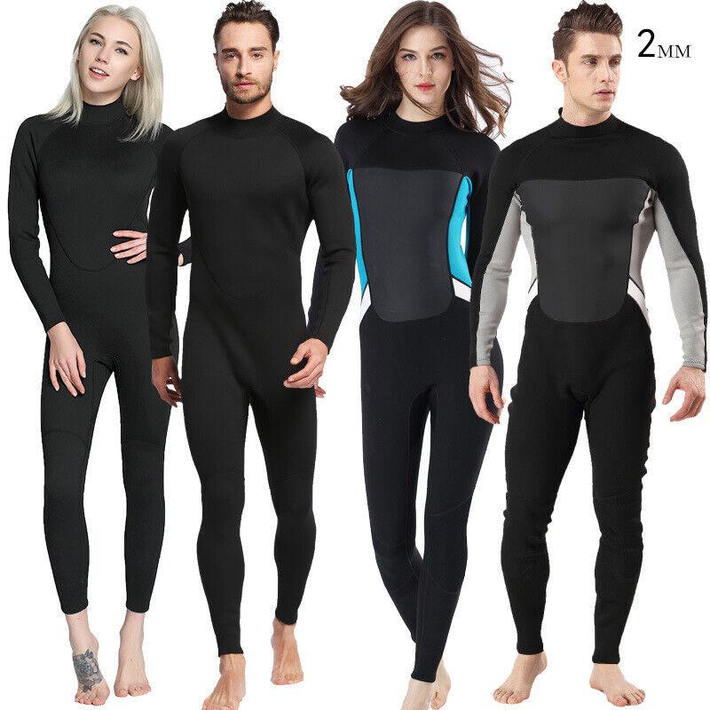Para Hombre Mujer Traje de Buceo 2mm Cuerpo Completo Traje Natación Surf Buceo Snorkeling