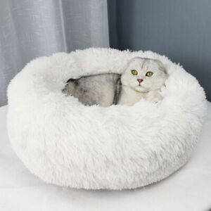 Marshmallow-Cat-Bed-Small-Luxury-Medium-Kitten-Round-For-Small-Dogs-Winter-Warm