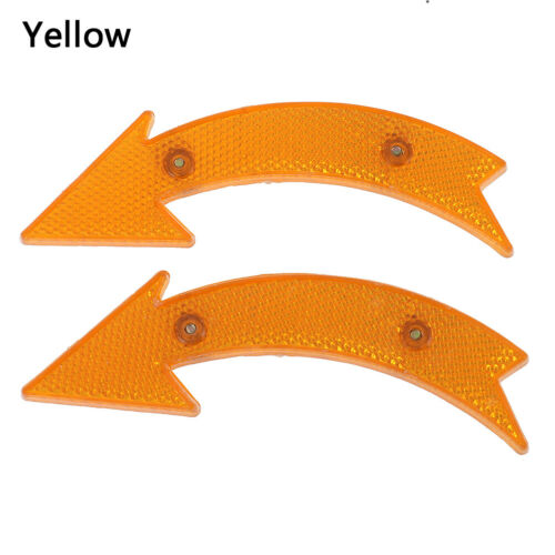 2 Pcs Road Bike Bicycle Reflector Cycling Arrow Shape Safe Warning AccessoriesHC