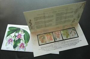 SJ-17th-World-Orchid-Conference-Malaysia-2002-Flower-p-pack-MNH-see-scan