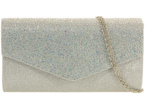 Ladies Rain Drop Clutch Bag Girls Glitter Evening Prom Party Bag Handbag K0702