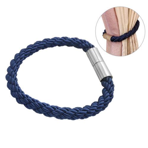 Magnetische Vorhang Raffhalter Binden Rücken Schnalle Clip Holdback Haken Schnür