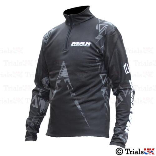 Trials//Trail//Offroad Wulf Max Trials Riding Shirt-Black//Grey